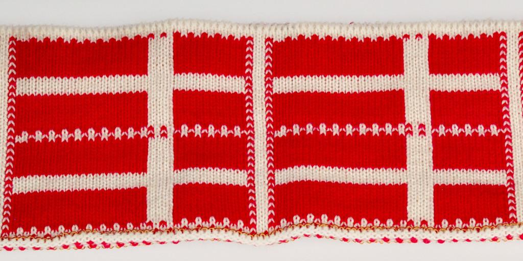 Żakard z flagą